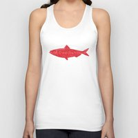 swedish Tank Tops featuring Swedish Fish by Chase Kunz