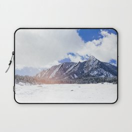 Flatirons in Snow Laptop Sleeve