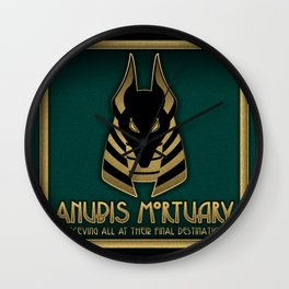 Anubis Mortuary Wall Clock
