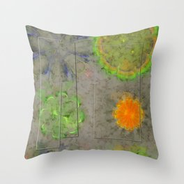 Beblooded Form Flowers  ID:16165-153024-61171 Throw Pillow
