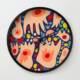 Life's Dance French Art Abstract Pattern Fashion Wall Clock