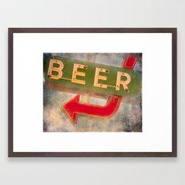 Beer Here Framed Art Print
