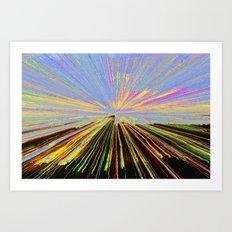 0255 bent Art Print