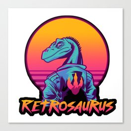 Retrosaurus Canvas Print