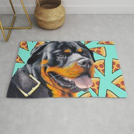 Rotty Pizza Rug