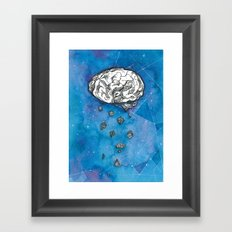 My brain in the cosmos Framed Art Print