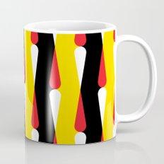 Droplet pattern - black, yellow, red Mug