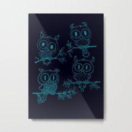 Owls in the night Metal Print