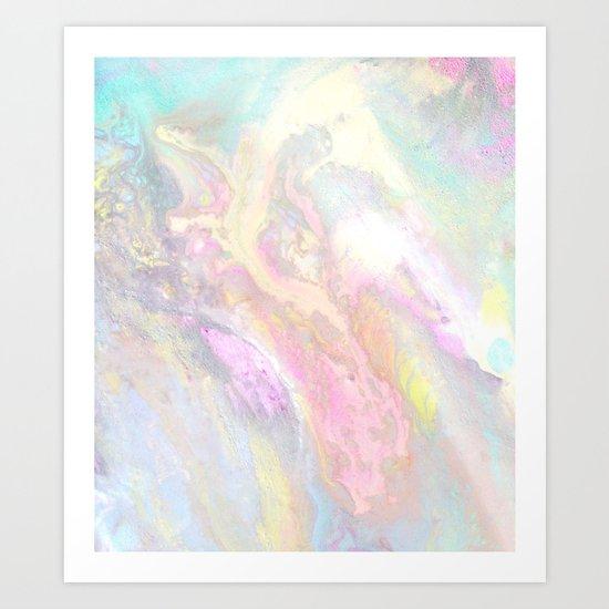 Pastel Iridescent Art Print