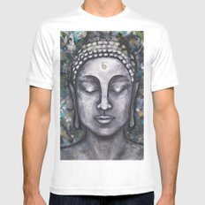 Buddha no.2 White MEDIUM Mens Fitted Tee