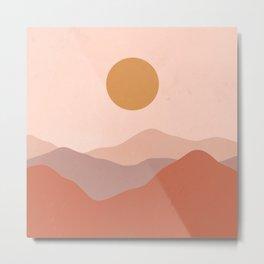 Boho Earthy Landscape  Metal Print