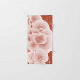 wood mushroom rust tone botanical art washed out effect aesthetic photography Hand & Bath Towel