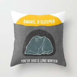 Awake O Sleeper Throw Pillow