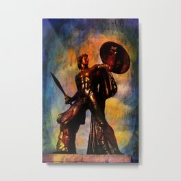 Statue of Achilles in London Hyde Park. Metal Print