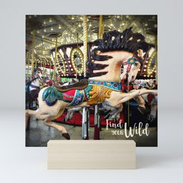 Carousel horse and sparkly lights | Find Your Wild Mini Art Print