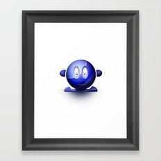 Emoticon Blue Framed Art Print