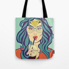 Superhero Coffee Break Tote Bag
