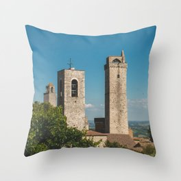 san gimignano, italy Throw Pillow