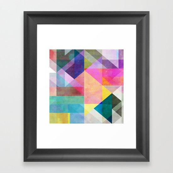 Color Blocking 2 Framed Art Print