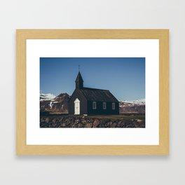 hellnar church Framed Art Print