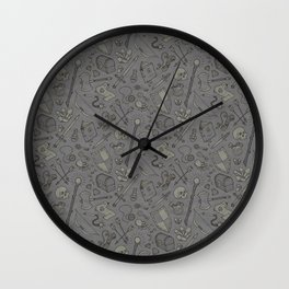 Inventory in Grey Wall Clock