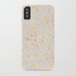 Floral watercolor orange pattern 2 iPhone Case