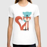 koala T-shirts featuring Fox & Koala by Jay Fleck