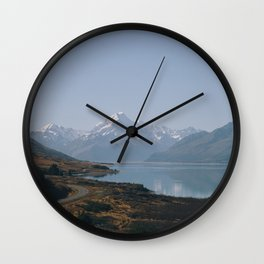 mt cook road Wall Clock