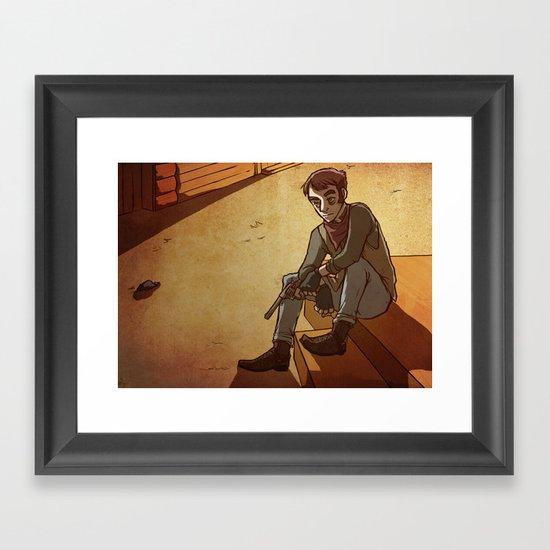 dust bowl dance Framed Art Print