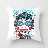 peru Throw Pillows featuring Mascaritos PERU by Tonton AL