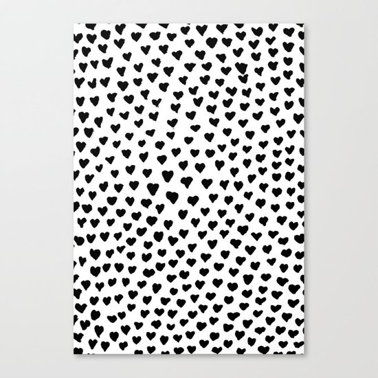 Black Heart Canvas Print