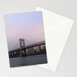 Manhattan Bridge at Sunset Stationery Cards