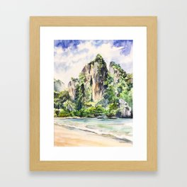 Railay Beach, Thailand Framed Art Print