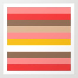 Sunset Stripe Art Print