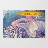 bohemian Canvas Prints featuring Bohemian by PixelFarmer