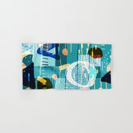 Abstract colorful geometric shapes collage Hand & Bath Towel