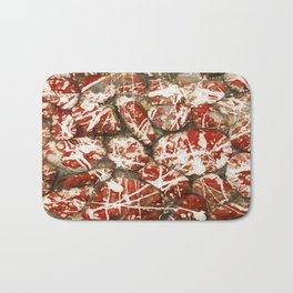 Red Paint Abstract Drip Stones AKA Pollock Bath Mat