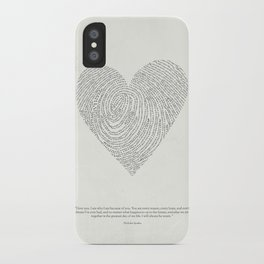 Coded heartprint iPhone Case