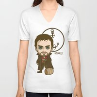 captain hook V-neck T-shirts featuring Captain Hook by Samtronika