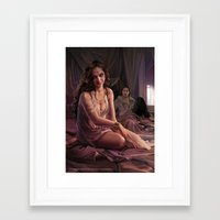 "martell Framed Art Prints featuring Arianne Martell ""A Song of Ice and Fire"" ( A Game of Thrones ) by Magali Villeneuve"