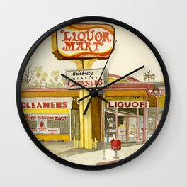 Liquor Mart Wall Clock