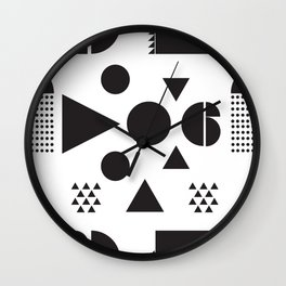 Block Party Black and White Wall Clock
