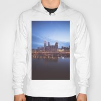 cleveland Hoodies featuring Daybreak in Cleveland by Jeffrey Stroup