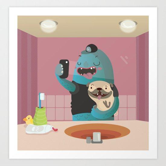 Bathroom selfie Art Print