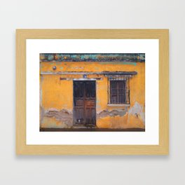Guatemalan Doorway Framed Art Print