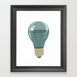 Life in a lightbulb. Night Framed Art Print