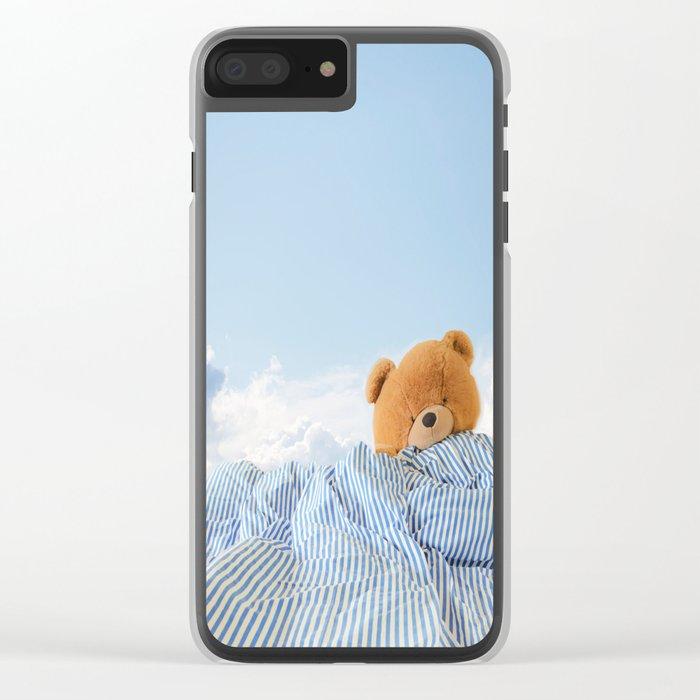 Sweet Dreams - Teddy Bear's Nap Clear iPhone Case