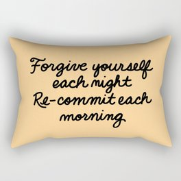 Re-Commit Rectangular Pillow