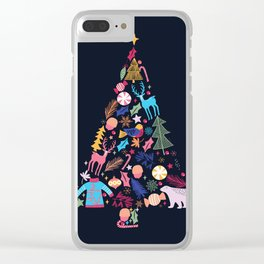Magic of a christmas tree Clear iPhone Case