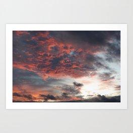 Sky 11/12/2010 17:22 Art Print